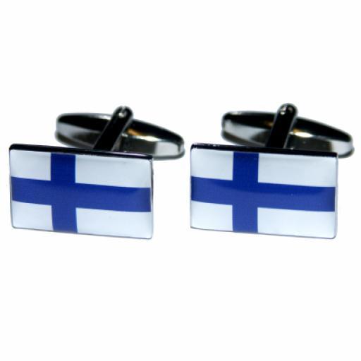 Finland Flag Cufflinks (BOCF37)