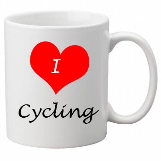 I Love Cycling 11oz Ceramic Mug