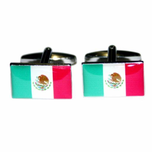 Mexico Flag Cufflinks (BOCF2)