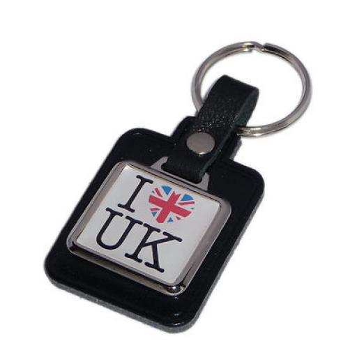 I Love The UK Key Ring