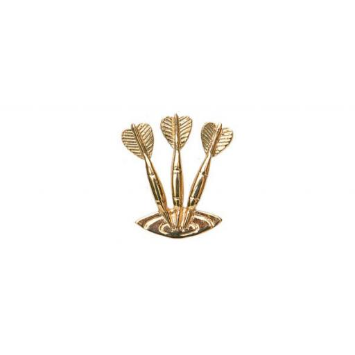 Set of darts Tie Tac - Sterling Silver with metal fittings All our cufflinks come presented in a gift box