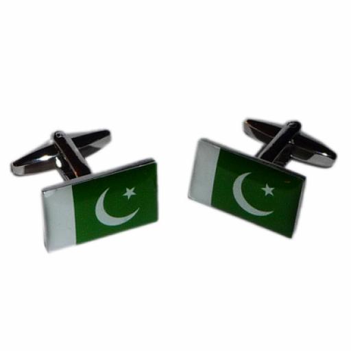 Pakistan Flag Cufflinks (BOCF105)