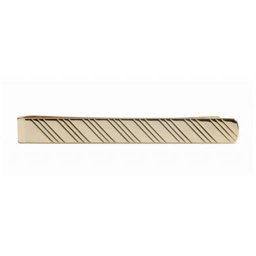 Full Diagonal Lines Gold Tie Slide A Great High Quality Product