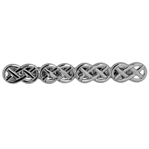 Open celtic design - Rhodium plate Tie Slide A Great High Quality Product