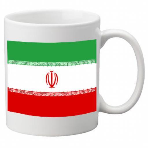 Iran Flag Ceramic Mug 11oz Mug, Great Novelty Mug