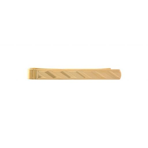 Waterwave design - Gold plate Tie Clip A Great High Quality Product