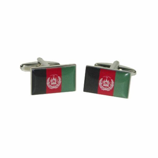 Afghanistan Flag Cufflinks (BOCF71)