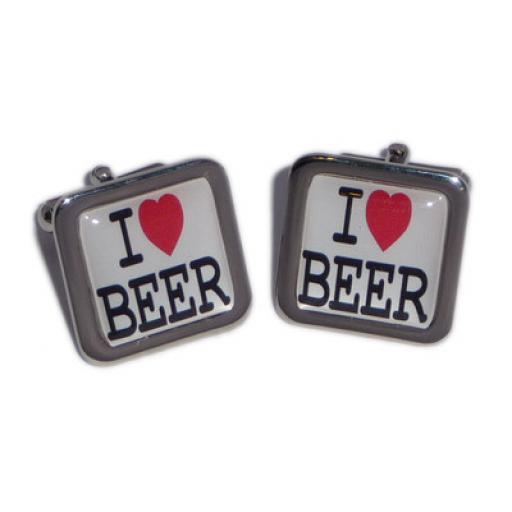 I Love Beer cufflinks