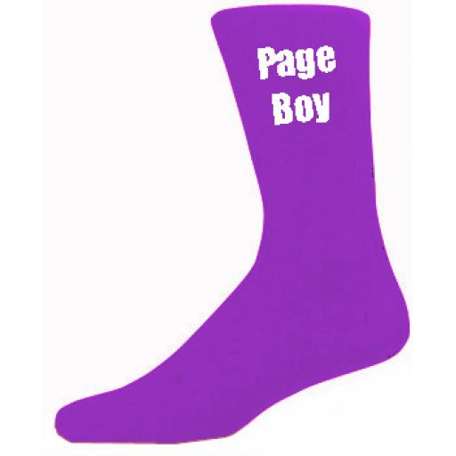 Purple Mens Wedding Socks - High Quality Page Boy Purple Socks (Adult 6-12)