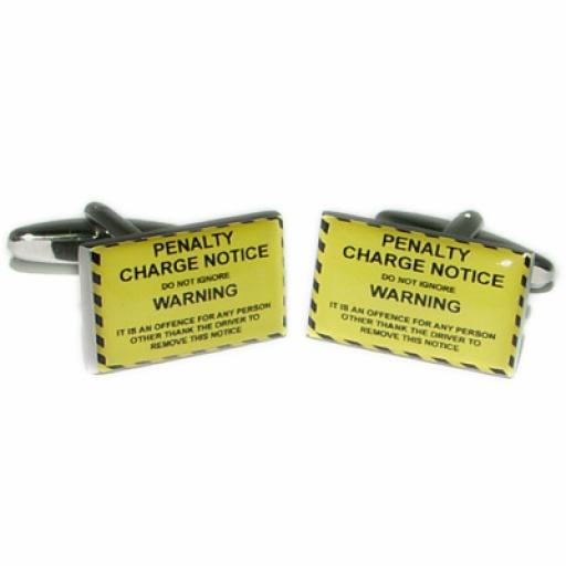 Penalty Charge Notice Cufflinks (BOCF64)