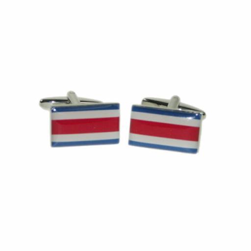 Costa Rica Flag Cufflinks (BOCF83)
