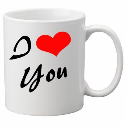 I Love You Script on a Quality Mug, Valentines, Birthday or Christmas Gift Great Novelty 11oz Mug