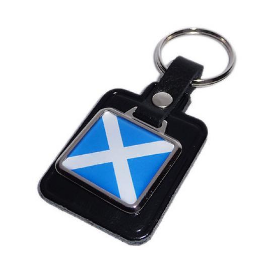 Scottish Flag Key Ring