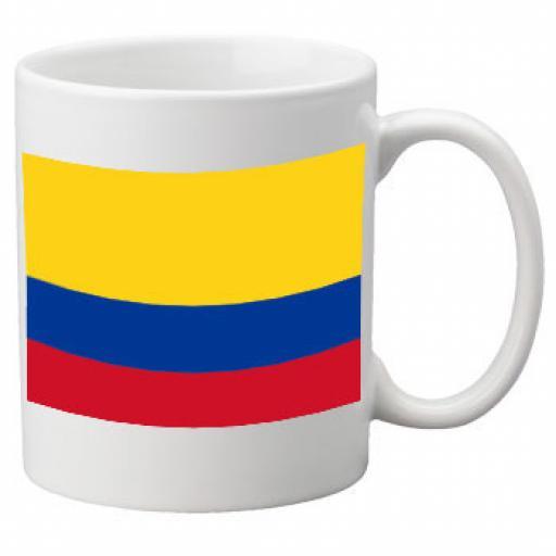 Columbia Flag Ceramic Mug 11oz Mug, Great Novelty Mug
