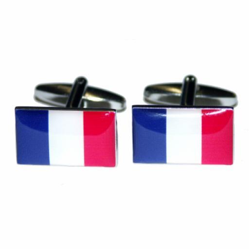 France Flag Cufflinks (BOCF4)