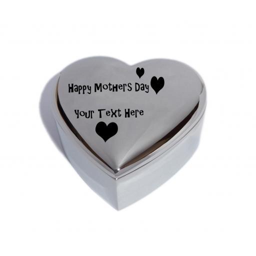 Happy Mothers Day Heart Trinket Jewel Box with Love Hearts