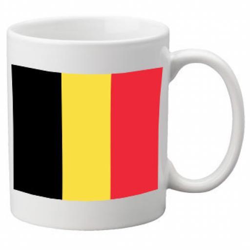 Belgium Flag Ceramic Mug 11oz Mug, Great Novelty Mug
