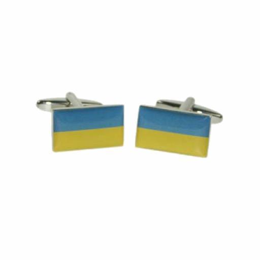 Ukraine Flag Cufflinks (BOCF116)
