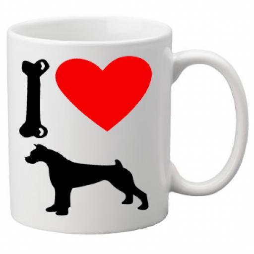 I Love Boxer Dogs on a Quality Mug, Birthday or Christmas Gift Great Novelty 11oz Mug