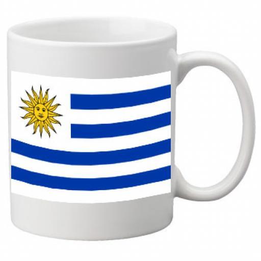 Uraguay Flag Ceramic Mug 11oz Mug, Great Novelty Mug