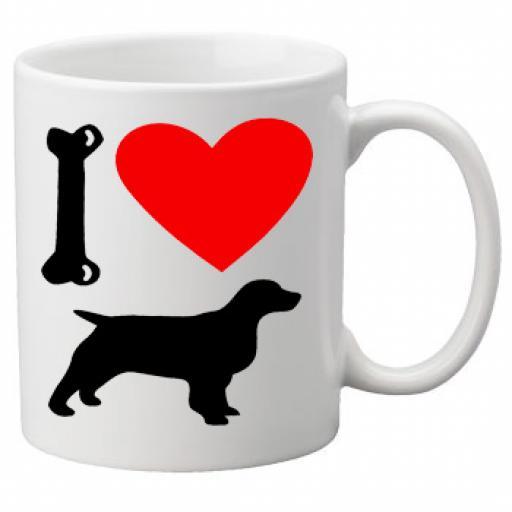 I Love Spaniel Dogs on a Quality Mug, Birthday or Christmas Gift Great Novelty 11oz Mug