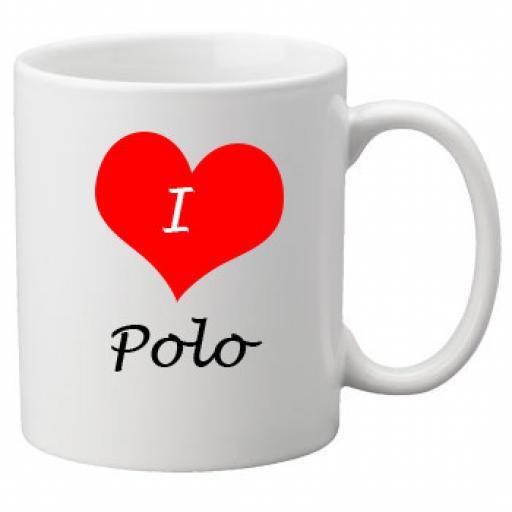 I Love Polo 11oz Ceramic Mug