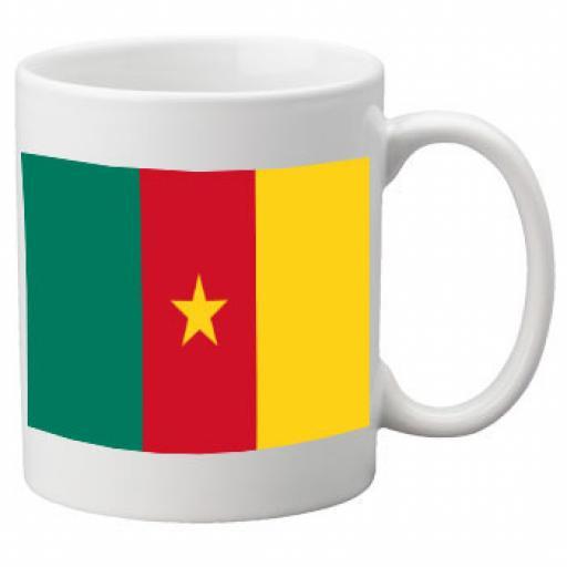 Cameroon Flag Ceramic Mug 11oz Mug, Great Novelty Mug