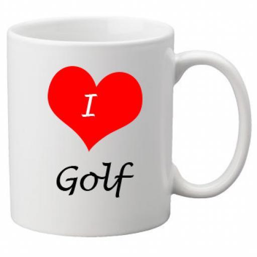 I Love Golf 11oz Ceramic Mug