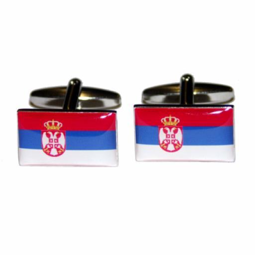 Serbia Flag Cufflinks (BOCF15)