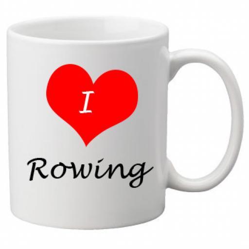 I Love Rowing 11oz Ceramic Mug