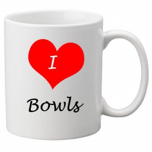 I Love Bowls 11oz Ceramic Mug