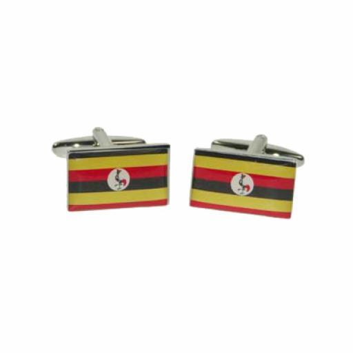 Uganda Flag Cufflinks (BOCF115)