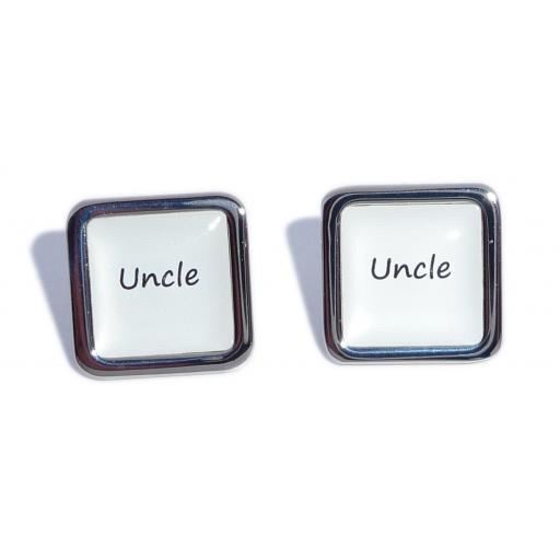 Uncle White Square Wedding Cufflinks
