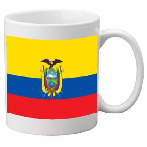 Ecuador Flag Ceramic Mug 11oz Mug, Great Novelty Mug