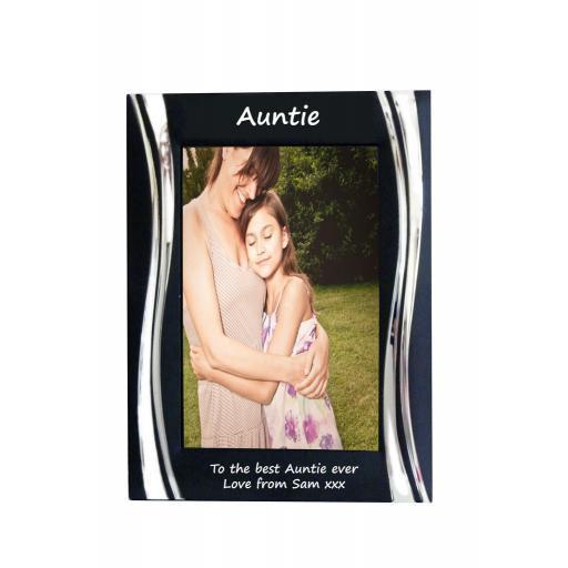 Auntie Black Metal 4 x 6 Frame - Personalise this frame - Free Engraving