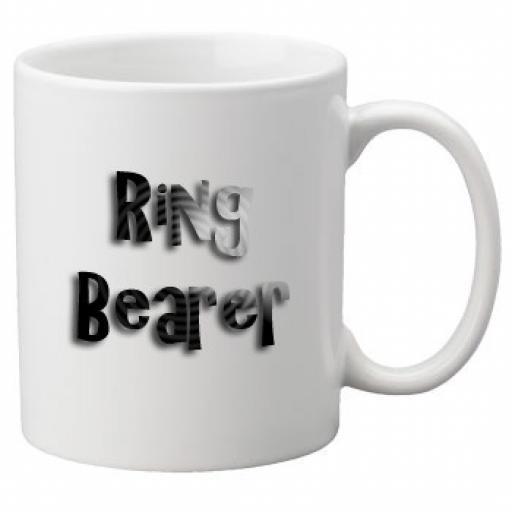 Ring Bearer - 11oz Mug, Great Novelty Mug, Celebrate Your Wedding In Style Great Wedding Accessory