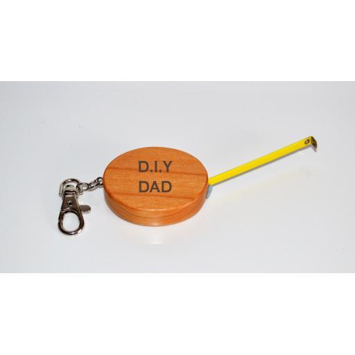 DIY DAD Wooden Tape Measure Keyring