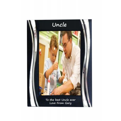 Uncle Black Metal 4 x 6 Frame - Personalise this frame - Free Engraving