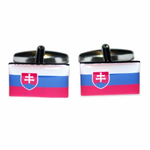 Slovakia Flag Cufflinks (BOCF24)