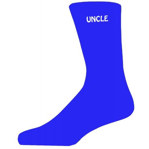 Simple Design Blue Luxury Cotton Rich Wedding Socks - Uncle