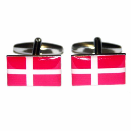 Denmark Flag Cufflinks (BOCF18)
