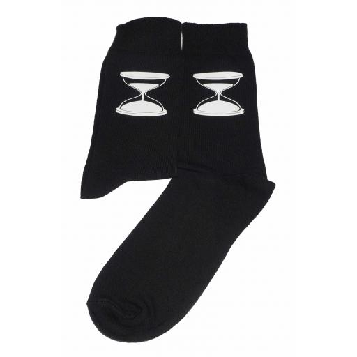 Sand Timer Socks, Great Novelty Gift Socks Luxury Cotton Novelty Socks Adult size UK 6-12 Euro 39-49
