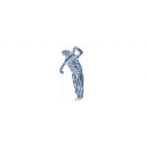 Golfer Tie Tac - Sterling Silver with metal fittings All our cufflinks come presented in a gift box