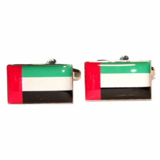 United Arab Emirates Flag Cufflinks (BOCF54)