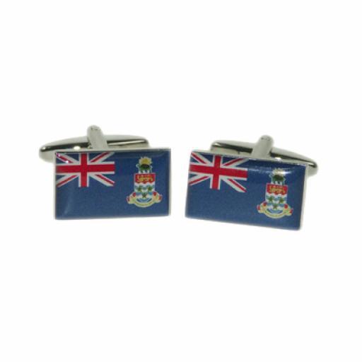 Cayman Islands Flag Cufflinks (BOCF80)