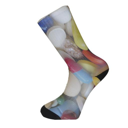 Pills and Tablets Design Novelty Socks - Great Novelty Socks Mens, Ladies Socks (Adult Size 6-12)
