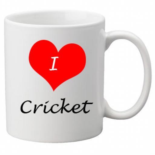I Love Cricket 11oz Ceramic Mug