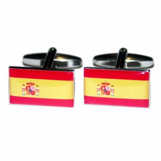 Spain Flag Cufflinks (BOCF29)