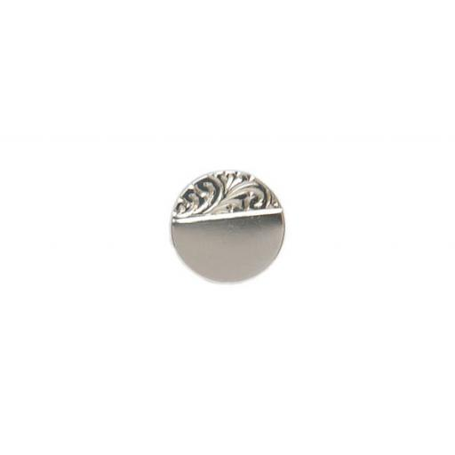 Engraved Round Tie Tac - Sterling Silver with metal fittings All our cufflinks come presented in a gift box