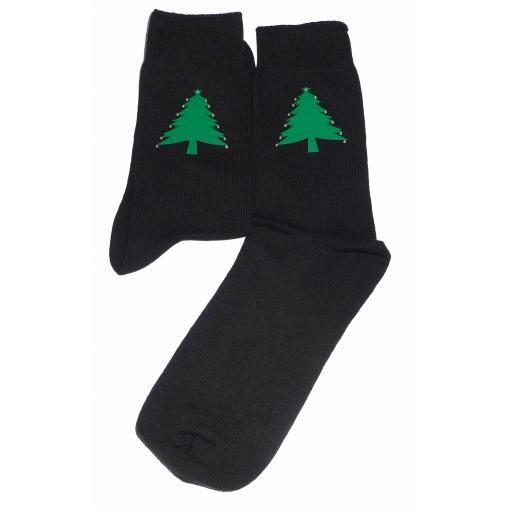 Green Christmas Tree Socks with crystal decorations Socks Great Novelty Gift Socks Luxury Cotton Novelty Socks Adult size UK 6-12 Euro 39-49